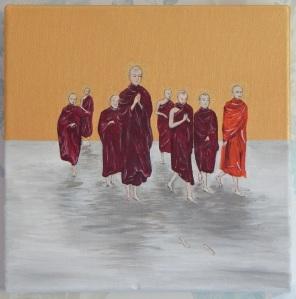 Acrylic on box canvas 10 x 10 (25 x 25) 2014