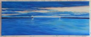 Acrylic on canvas 8 x 20 (20 x 50) 2014